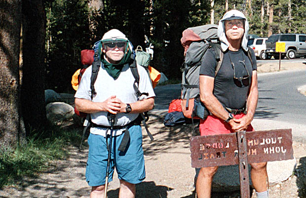 Pat and Peter starting on the JMT at Tuolumne Meadows Ranger Station
