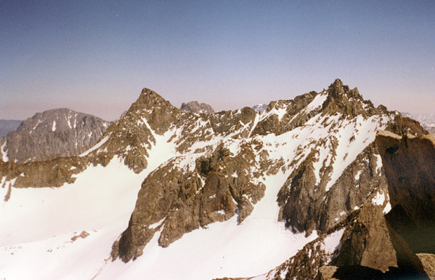Looking south over Palisade Glacier.  This view is from the summit of Mt. Agassiz
