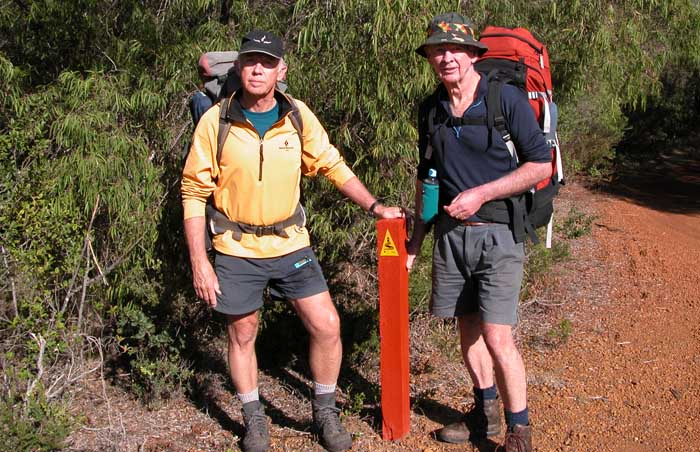 Our start point at Williams Bay, the first of the many excellent trail markers along the way