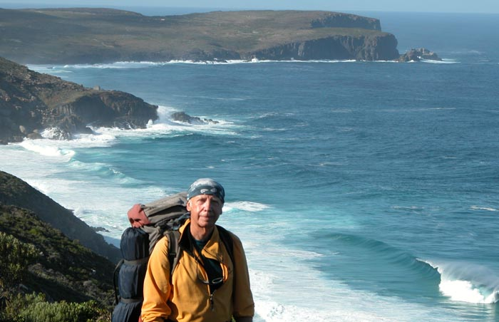 Peter, with West Cape Howe behind. The most southerly point on the Western Australian mainland