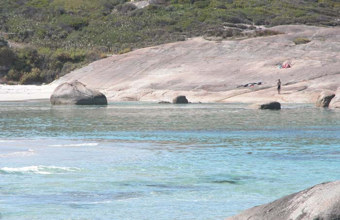 Green's Pool in the William Bay National Park and the boundary between our Bibbulmun walk in 2003 and 2004