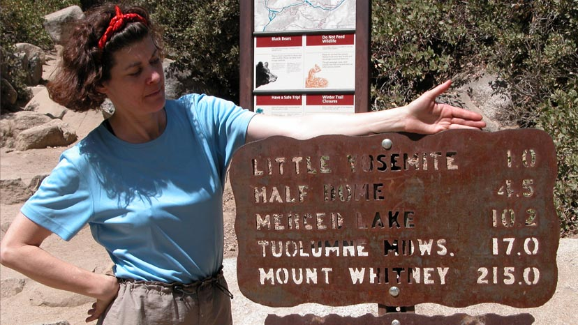 Only 215 miles to the southern terminus, Mt. Whitney summit, of the John Muir Trail