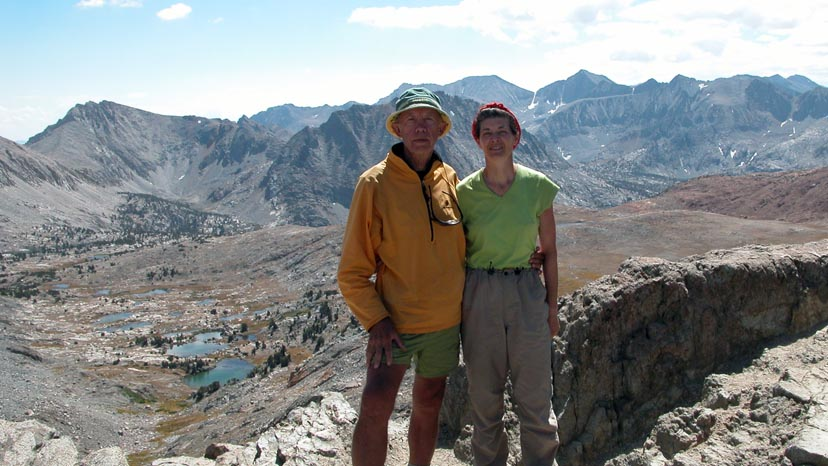 Peter and Lucy standing on Pinchot Pass