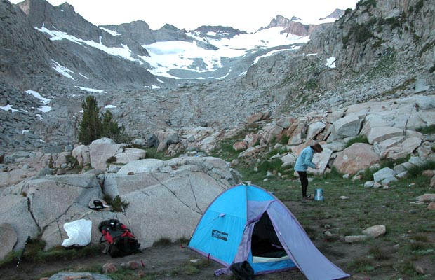 First night out from Tuolumne ... camped by the highest Lyell Creek crossing