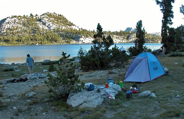 Our camp on the northern shore of Lake Virginia at 10,300'