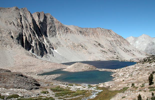 Lake Marjorie on the northern side of Pinchot Pass