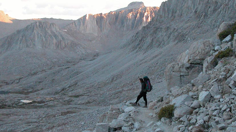 Early morning on the last day, climbing the switchbacks to Mt. Whitney