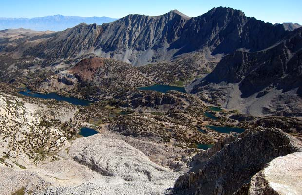 View from the summit of Mt. Goode ... looking down on Long Lake