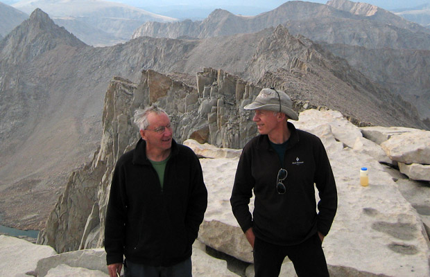 Mike and Peter on the summit of Mt. Whitney, 14,495'