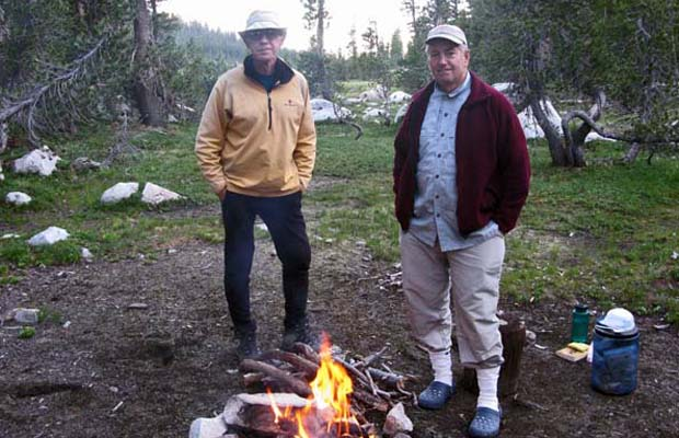 Peter and Jim S. at the buggie campsite in Grace Meadow ... south of Dorothy Lake