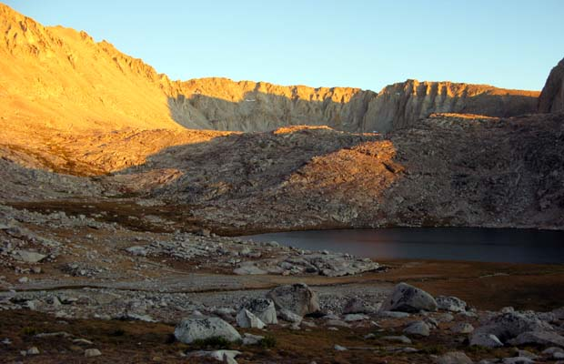 Evening light at Guitar Lake ... last night on the Trail