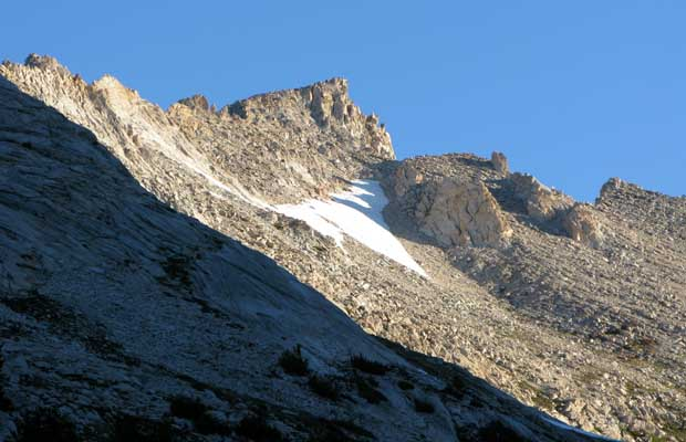 The southwest summit ridge of Matterhorn Peak as seen from Spiller Canyon 2008