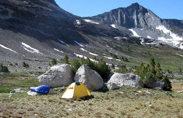 My camp in the upper section of Spiller Canyon 2008