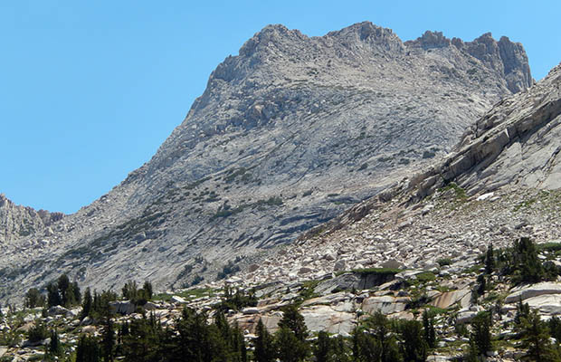 The 12,000' Whorl Mountain seen from Matterhorn Canyon