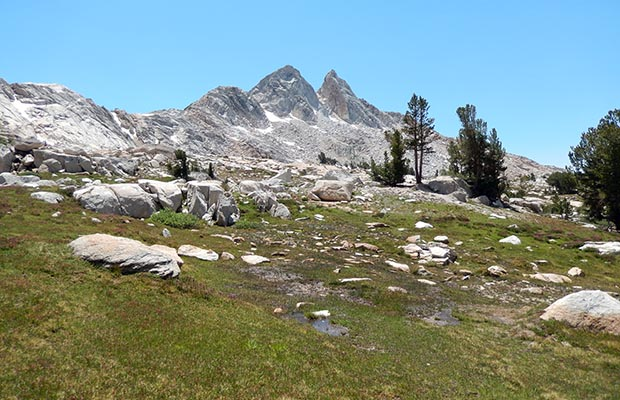 The Finger Peaks to the south of the Sawtooth Ridge.
