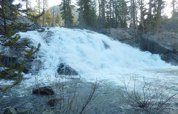 The falls on Piute Creek in Pleasant Valley ... a difficult trail crossing!
