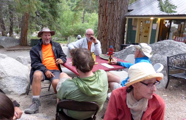 Rob and fellow travellers at Whitney Portal ... no more hiking!
