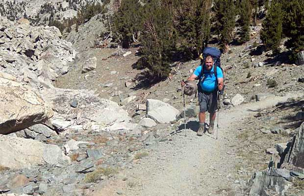 Rob on the JMT between Purple and Virginia lakes