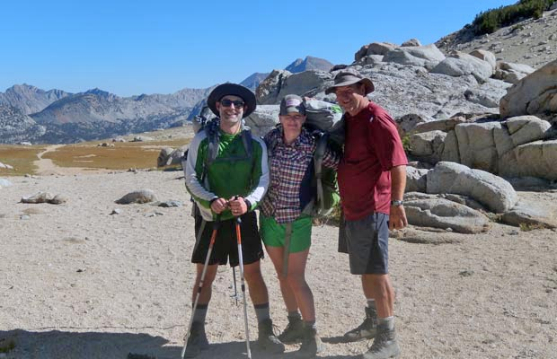 Whitney, Matt and Rob on the 11,000' Goodale Pass
