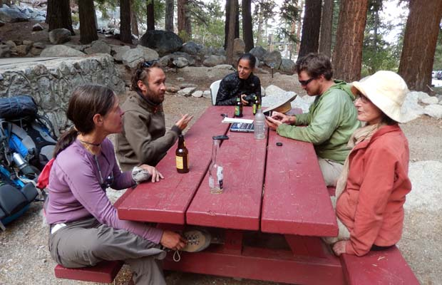 Laurie, Francesco, Electra and Johannis at Whitney Portal