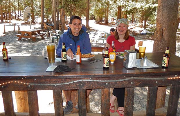 Bill and Heidi on lunch break at Vermilion Resort [VVR]