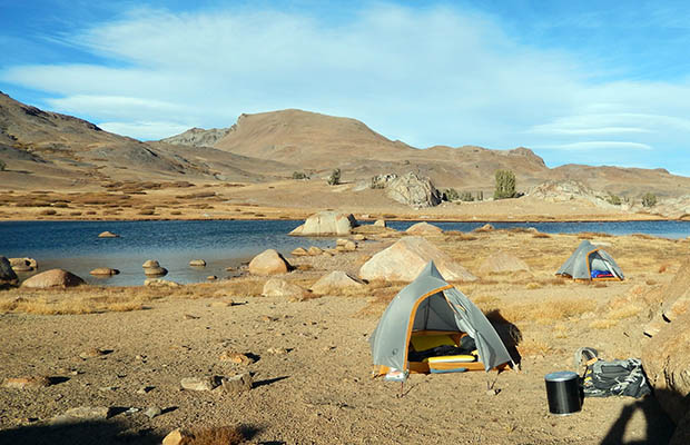 Our great campsite near the High Emigrant Lake.