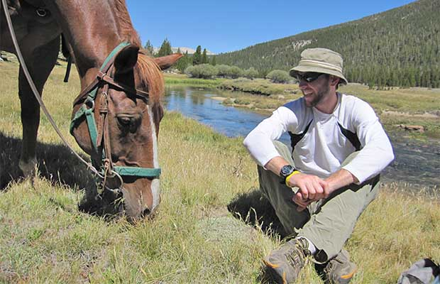 Brian talking with Mr Ed during our first day hiking along the Lyell Canyon section of the JMT
