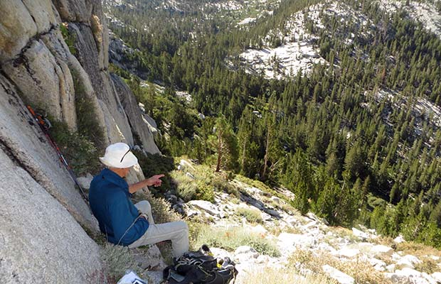 Moving south on the High Sierra Route in the Second Recess ... too high at this point!