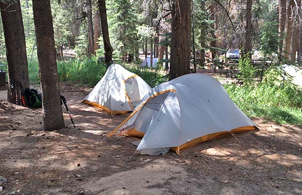 Bob and Peter's tents at VVR hiker campground [2015]