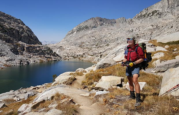 Bob near Lower Palisade Lake, between the Golden Staircase and Mather Pass