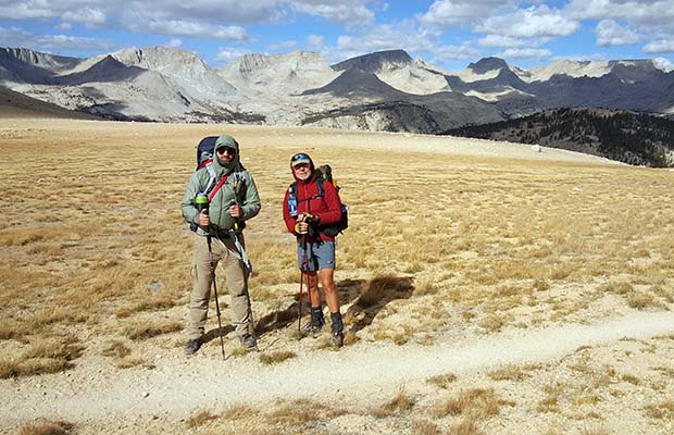 Benajmin and Bob on the high desolate section of the Bighorn Plateau.