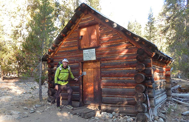 The John Muir Hut alongside the JMT, one mile north of the Kings Canyon Steel Bridge