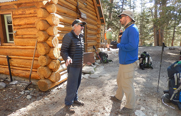 Ben interviewing Ranger Dario [age 71] at the McClure Meadow Ranger Station