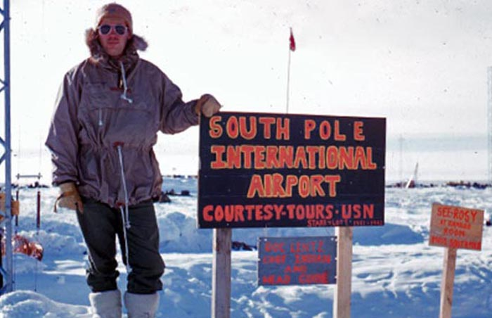 Me at the South Pole Station - flown in by a VX6 C-130BL