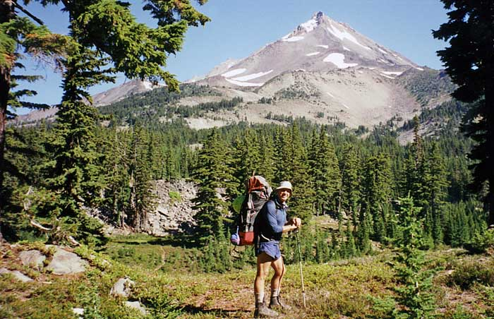 1997 climbing with Lucy: The view of the southern face from Mudhole Lake on the PCT.