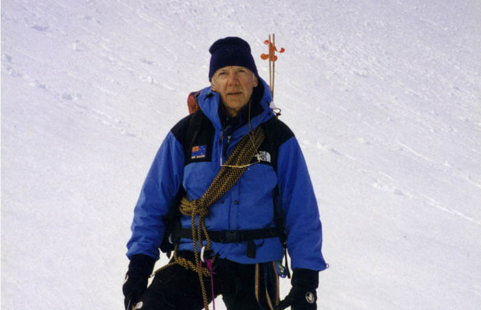 1996: Peter close to the bergschrund on the Jefferson Park Glacier - roped this time!