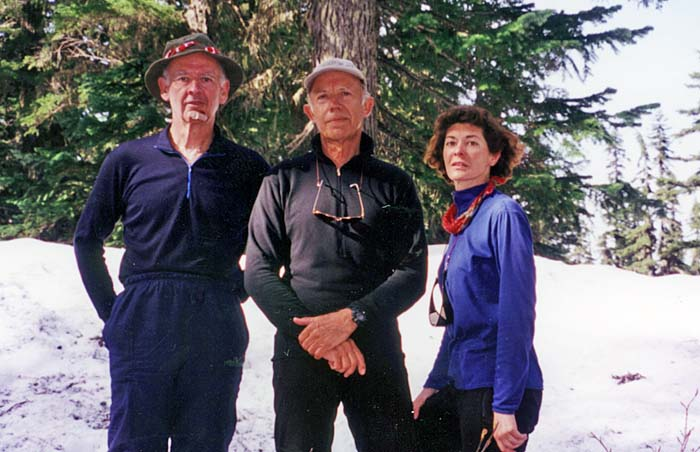 1997: In the snow at Jefferson Lakes Park.  Mal, Peter and Lucy