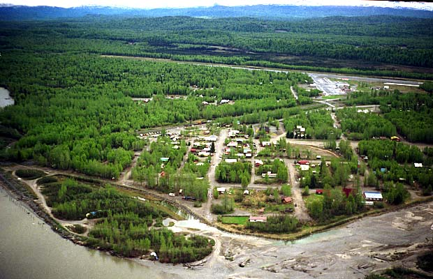The small, but active climbers town of Talkeetna in May 1989