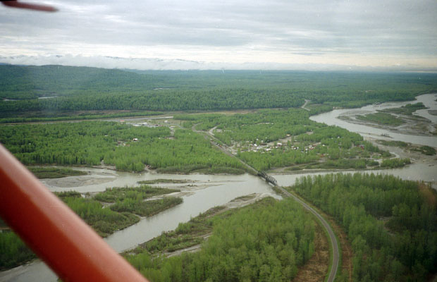 Flying out of the Talkeetna airport