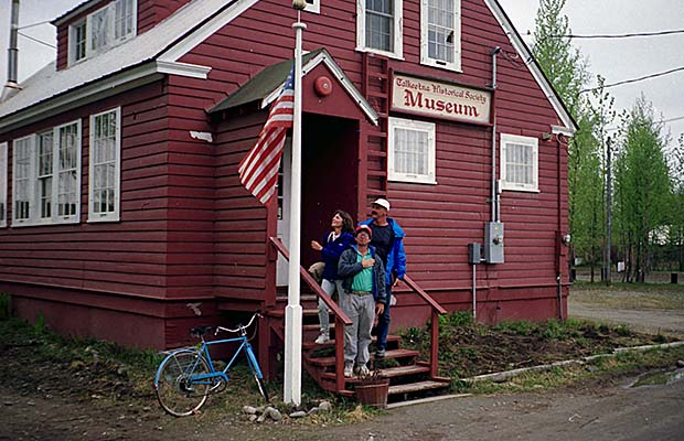 Art, Jackie and Randy at the Talkeetna Museum