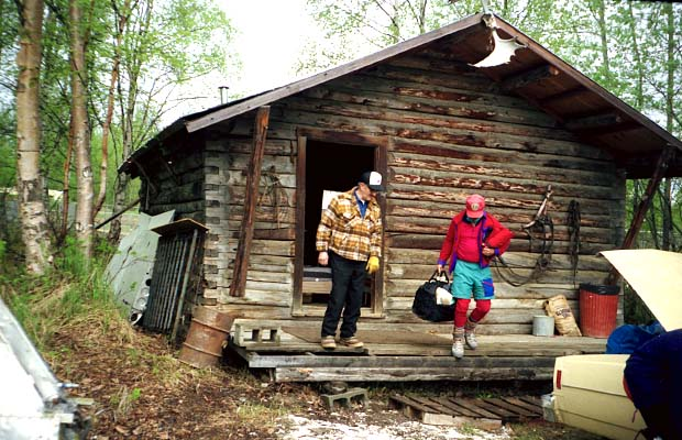 Back at the Talkeetna cabin with Cliff Hudson and Randy.