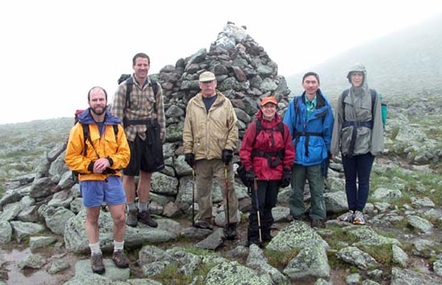 2005 Traverse group at Thunderbolt Junction cairn
