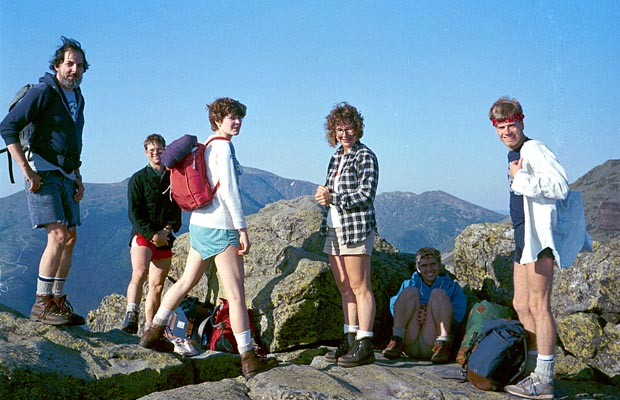 In 1985, our Presidential Traverse group on the summit of Mt Madison