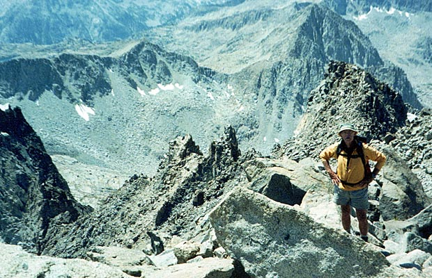 Peter approaching the summit ridge of Mt Agassiz