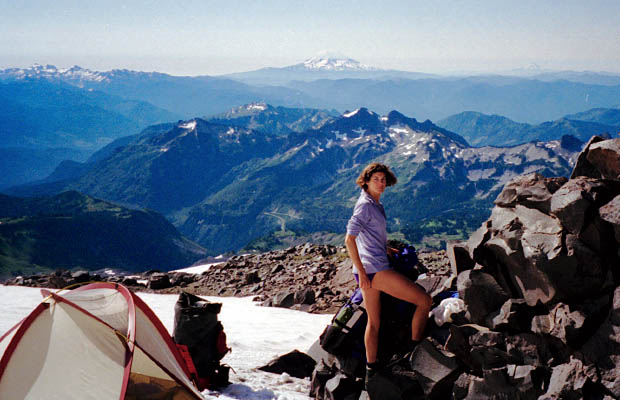 Our first camp on Rainier ... at 8,600' between Paradise and Camp Muir.