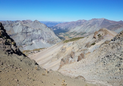 From the Big Sam summit [10,800'] looking west to Kennedy Meadows.