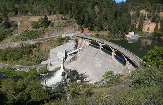 Lake Britton dam, a few miles east of Burney Falls
