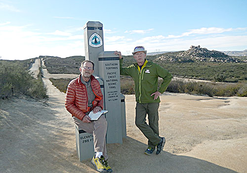 Randy and the Tinman at the southern terminus of the PCT.