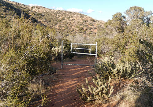 The Third Gate at PCT mile 91 - large water cache close by.