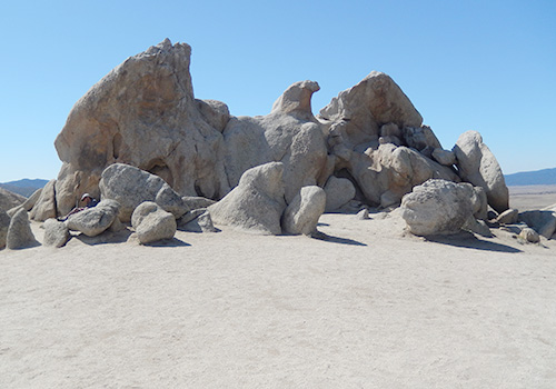 Eagle Rock, a tourist attraction a few miles south of Warner Springs.